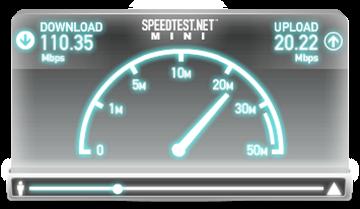 как выглядит speedest mini на своём сайте