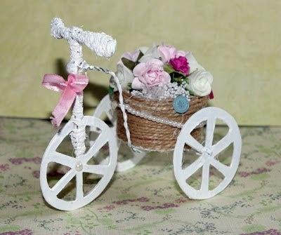 Цветочный велосипед своими руками